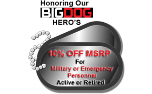 Hero Promotion - 10% Off for Military or Emergency Personnel